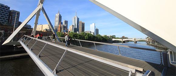 Melbourne Brücke am Yarra