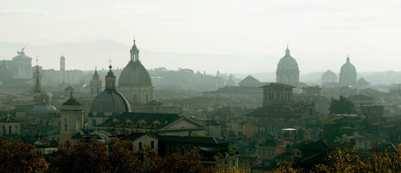 Sicht über Rom