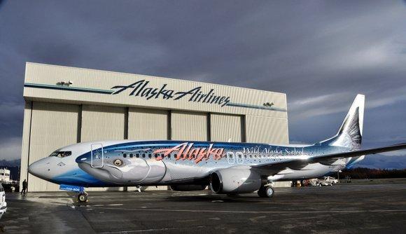 Alaska Airlines Salmon Boeing