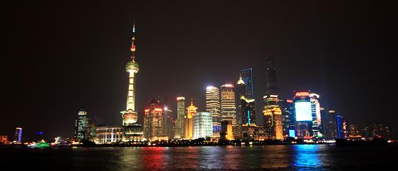 Shanghai Pudong bei Nacht