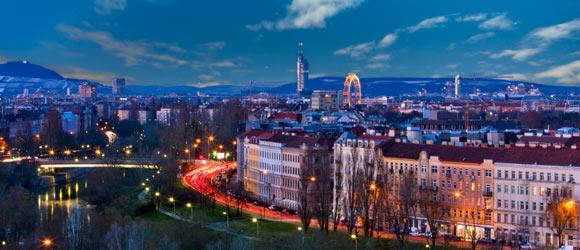 Wien Sicht über die Dächer