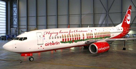 Weihnachtsflieger von Air Berlin 2013