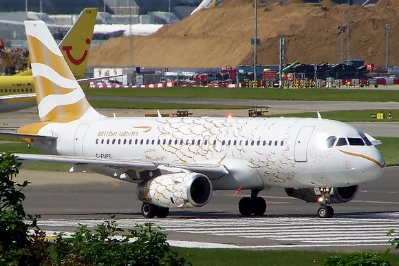 Britisch Airways golden dove