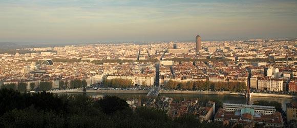 Sicht über Lyon