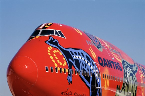 Qantas Boeing 747 Wunala Dreaming